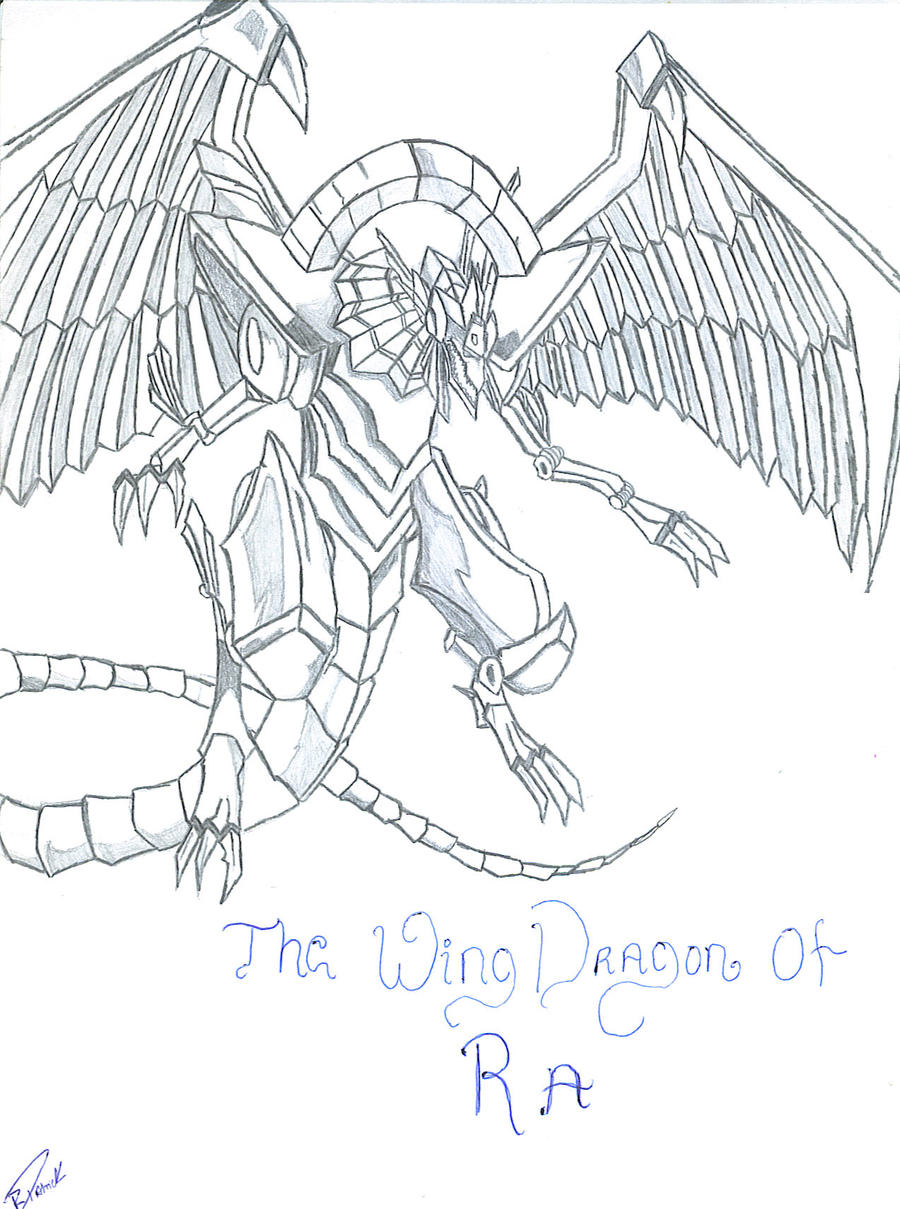 The Wing Dragon Of Ra Drawing By Master101 On DeviantArt