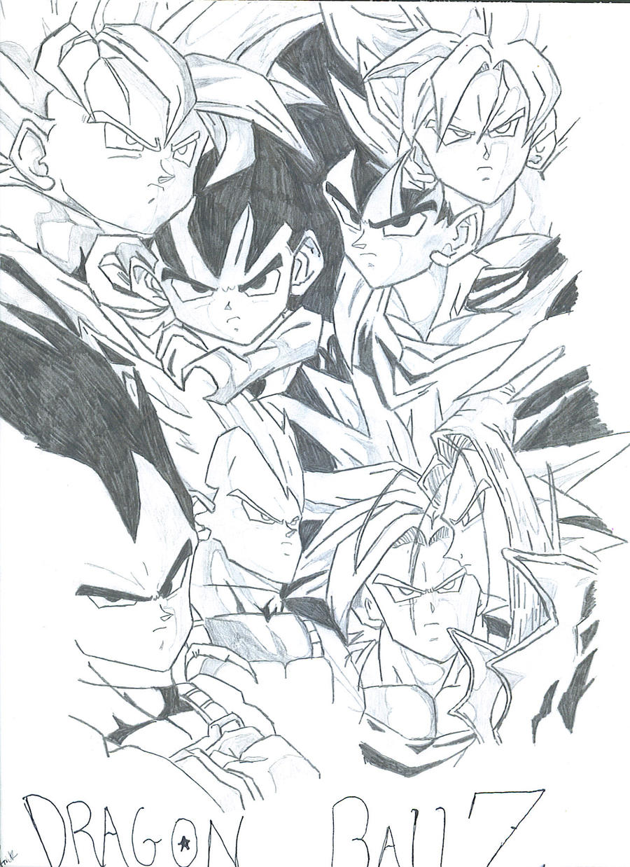 dragonball z drawing by master101 dragonball z drawing by master101