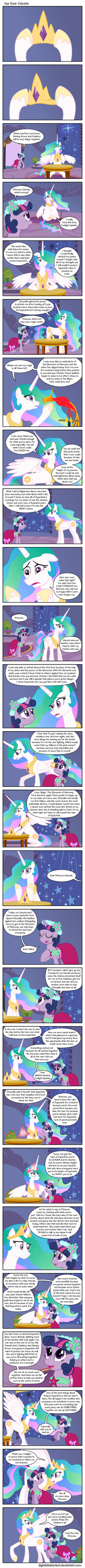 Our Dear Celestia by DigitalDasherBot