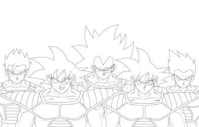 Goku turles, raditz, gohan, goten by cruzazul