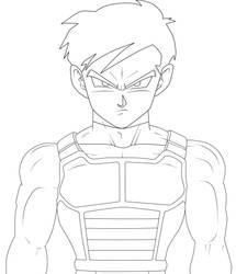 Gohan pelo corto con armadura terminado