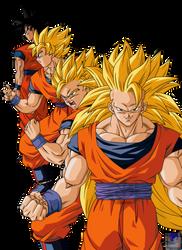Goku en sus faces by cruzazul