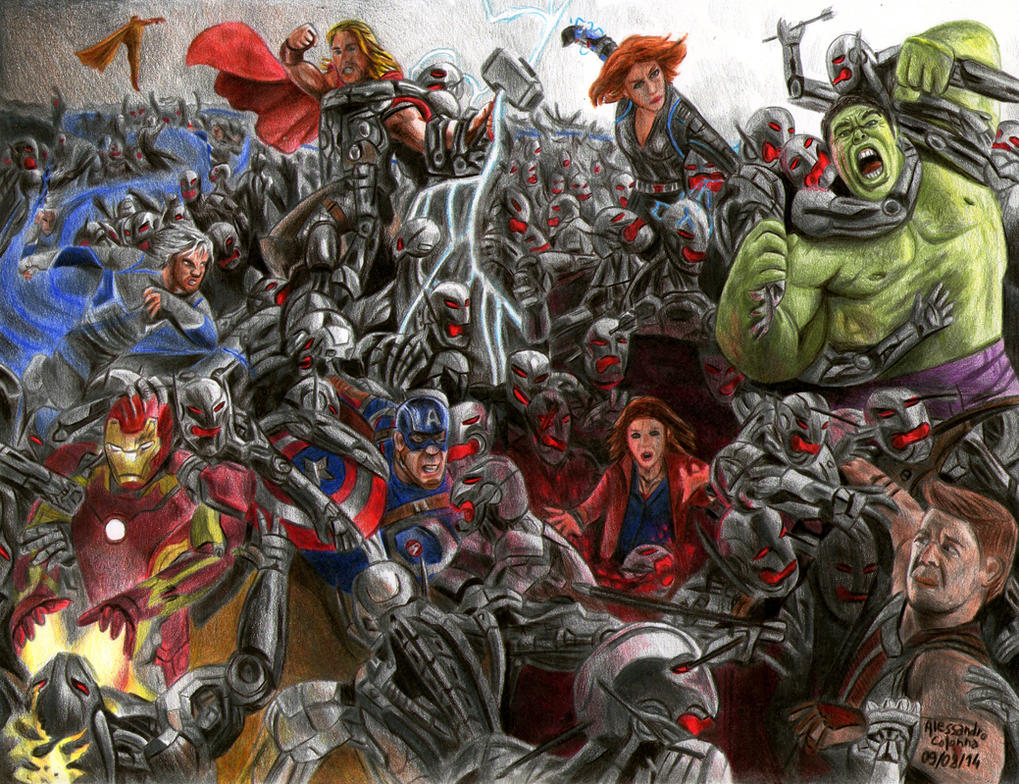 Avengers Age Of Ultron By Iloegbunam On Deviantart: Avengers Age Of Ultron By AlessandroColonnaART On DeviantArt