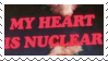 My heart is nuclear || f2u stamp