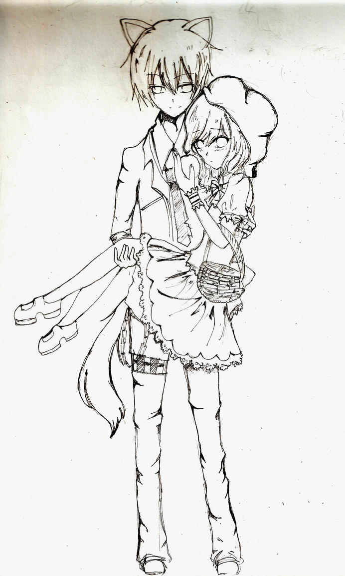 alice in wonderland photo booth ideas - Little Red Riding Hood sketch by Mochiaa on DeviantArt