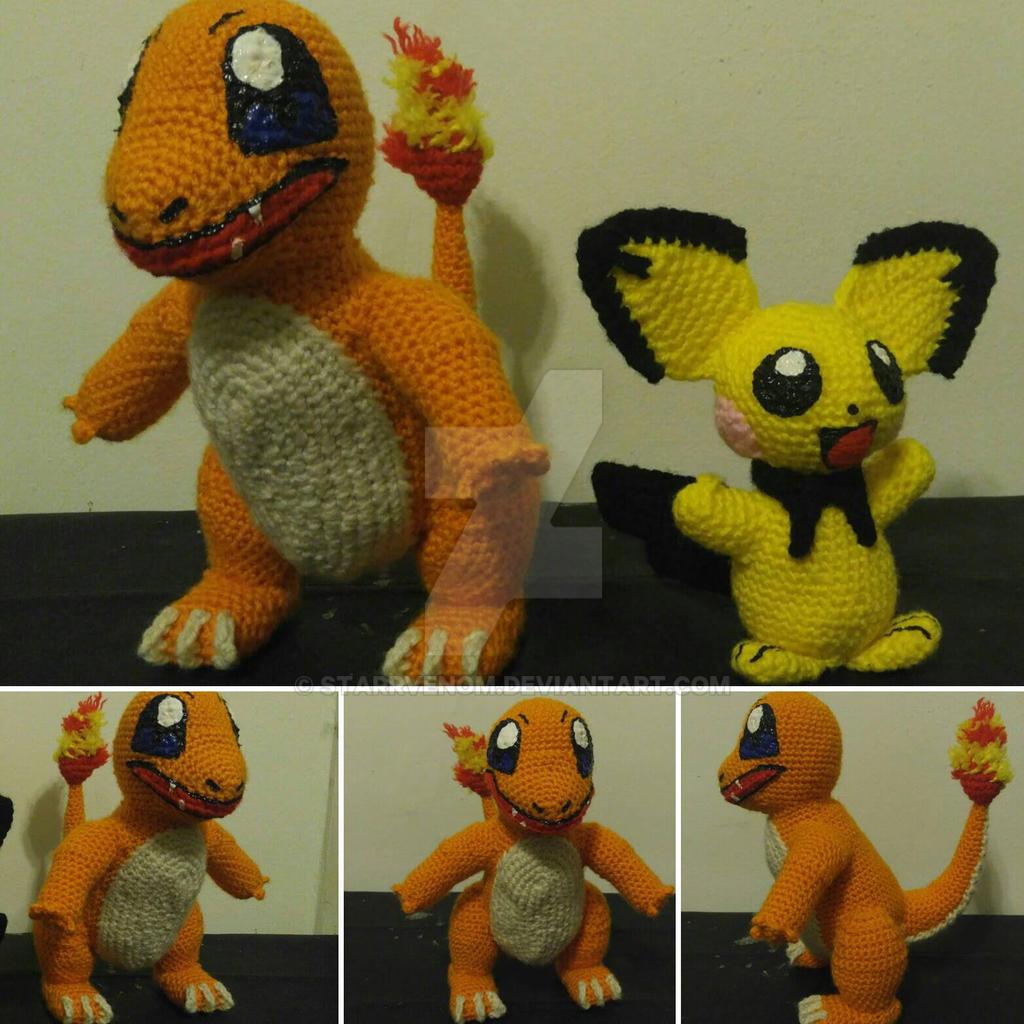 Amigurumi Pokemon Set Pikachu Squirtle Bulbasaur Charmander ... | 1024x1024