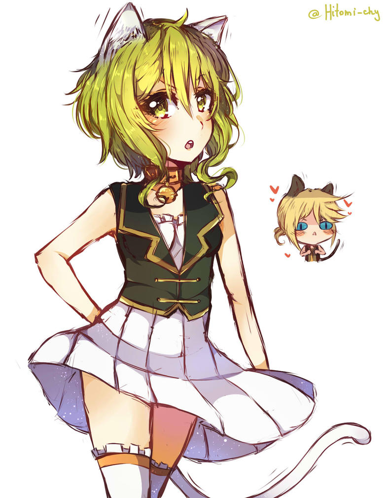 Puk Len i am not a stray cat gumi and len doodle by chy on