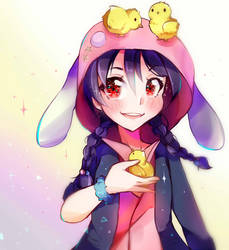 Nico-Nii with lil birbs ~ Love Live ~ doodle by Hitomi-chy