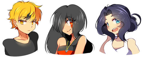 bust commissions~ set by Hitomi-chy
