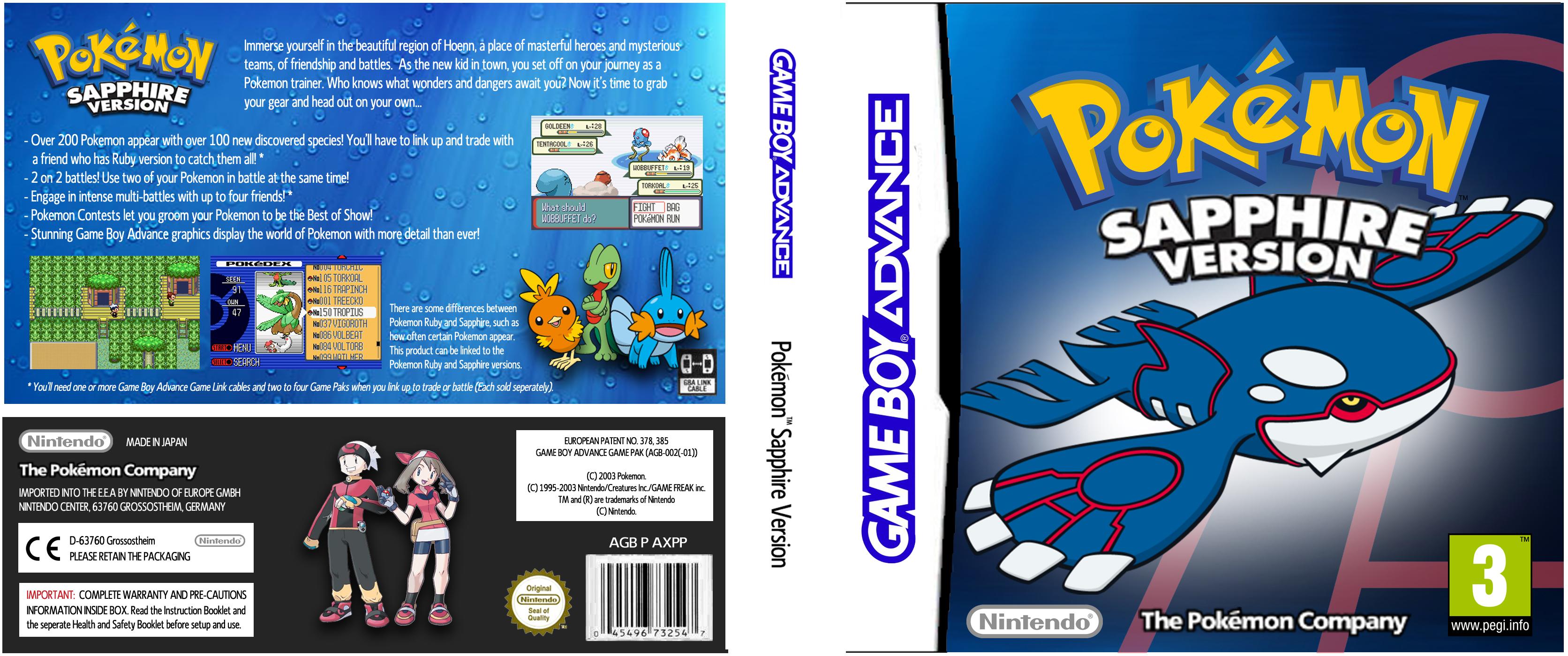 pokemon sapphire version - HD3344×1400