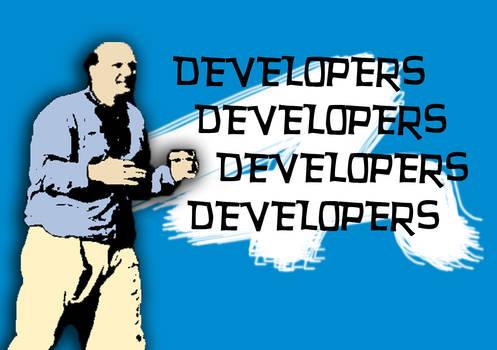 Steve Ballmer 'Developers' t-shirt
