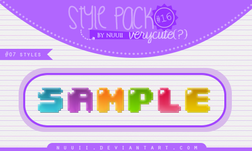 Style.Pack.#16 by Nuuii