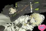 Render #123 - Owari no Seraph [Yuu x Mika Hyakuya]