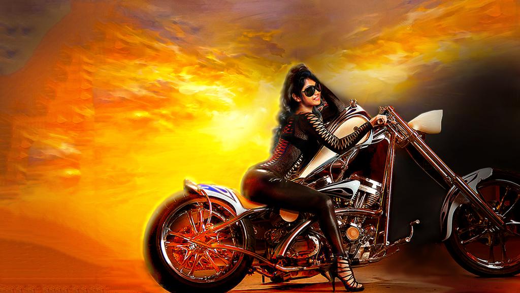 biker babe hot v 2 wallpaper by kpietersen on deviantart