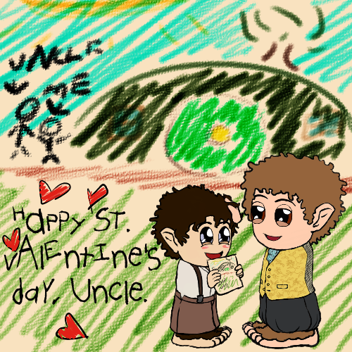 Valentine 2014: Frodo and Bilbo by Kumama