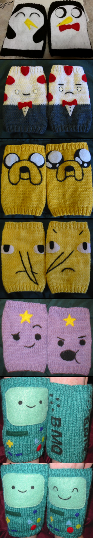 Adventure Time Knitting Patterns : Knitting: Adventure Time by Kumama on DeviantArt