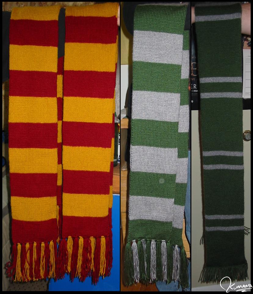 Knitting: Hogwarts Scarves by Kumama on DeviantArt