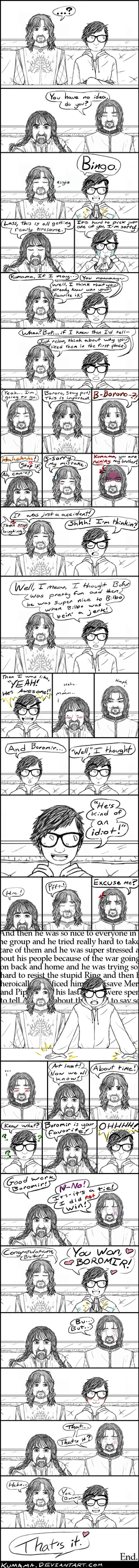 Comic: HOBBIT vs LOTR 7 by Kumama