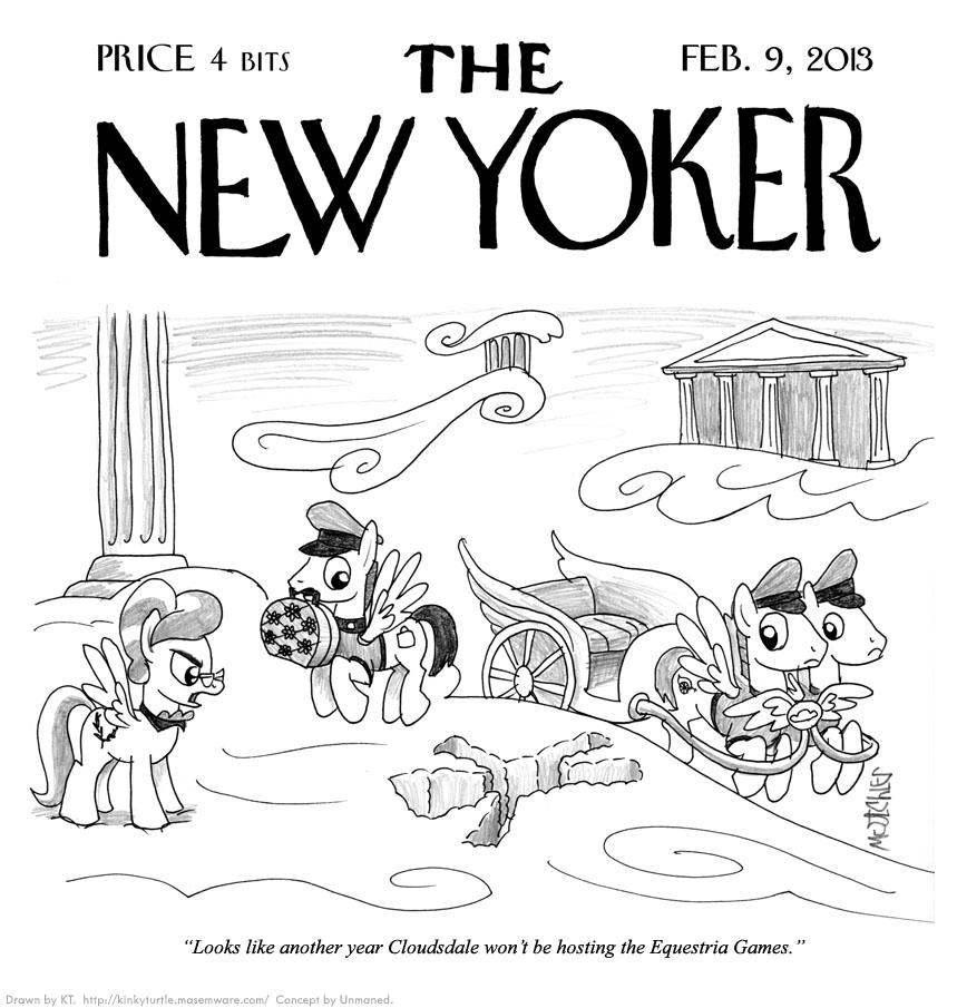 New Yoker cartoon by KTurtle
