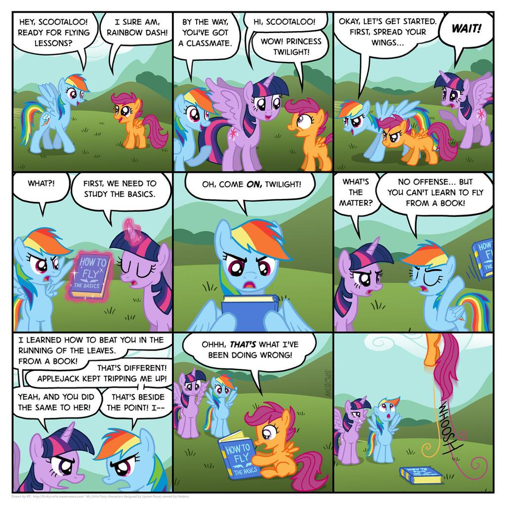 Rainbow Dash's flying school by KTurtle
