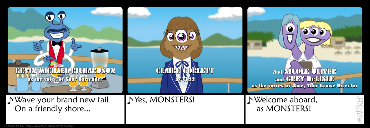 ''The Monster Cruise'' theme song, p. 3 by KTurtle