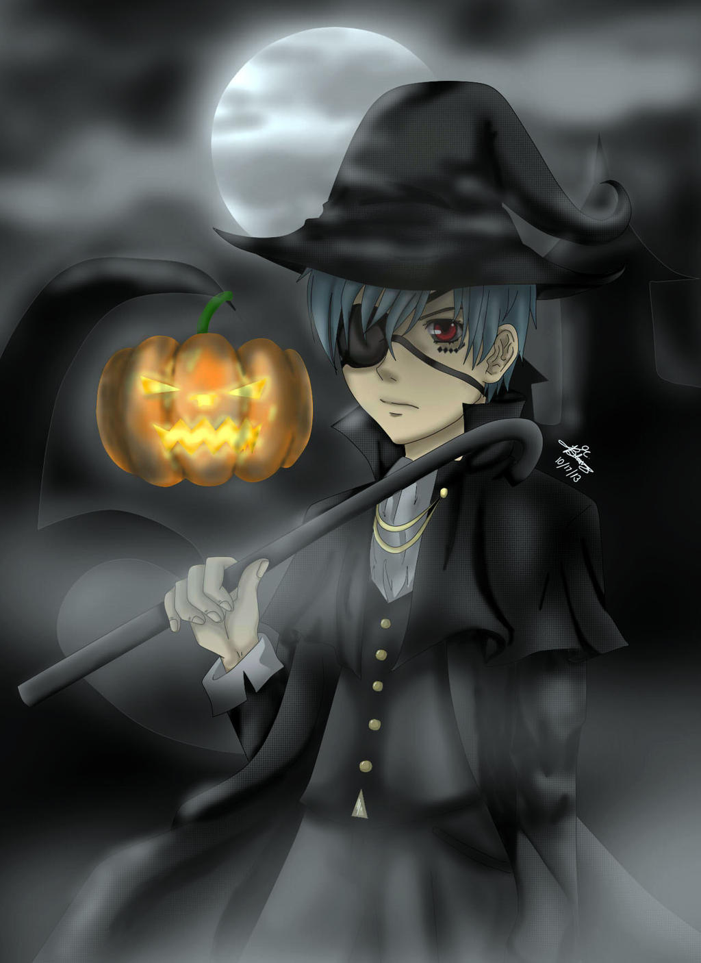 Ciel Phantomhive Halloween by LenaleeExorcist