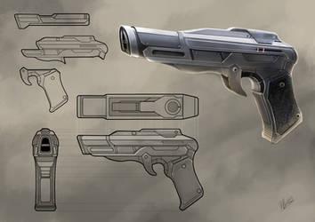 scifi gun by Flycan