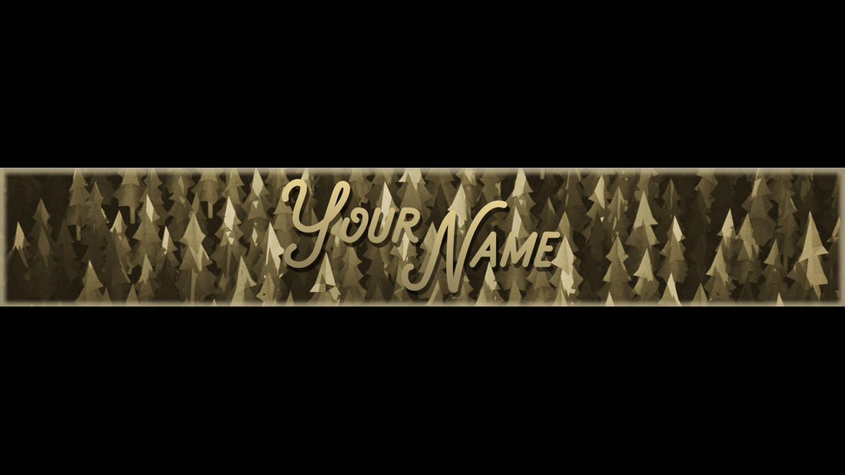 Free Ol Style Forest Youtube Cover Art Template By Jkirktv On