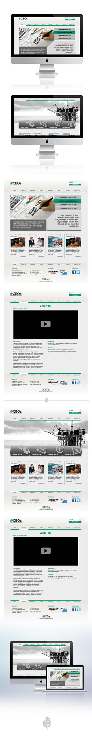 eCEOs Website Design 1 by AimanMD