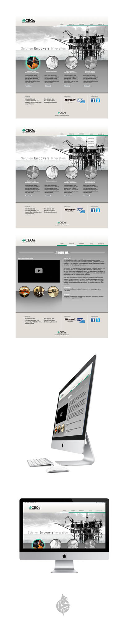 eCEOs Website Design 3 by AimanMD