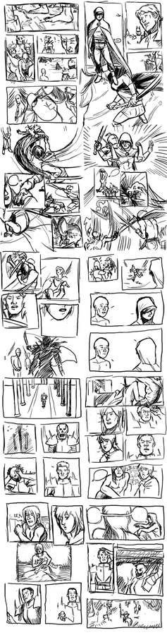 Comic Sketch Page Dump