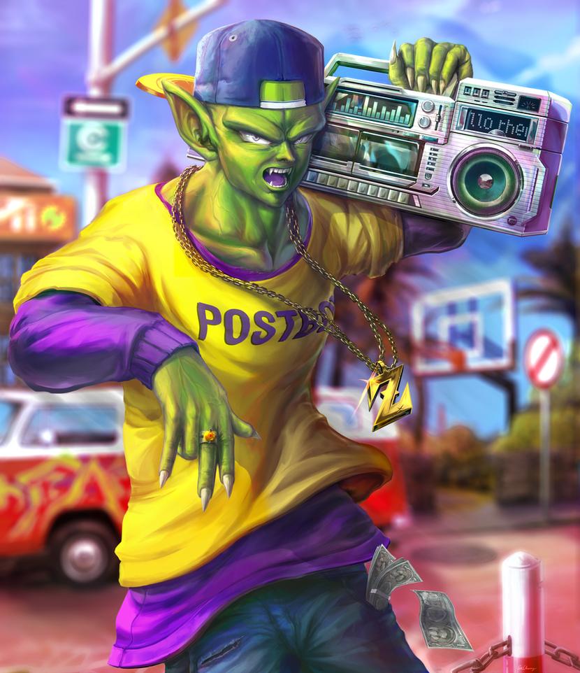Casual Street Piccolo [ Dragon Ball Z fanart ] by ExCharny