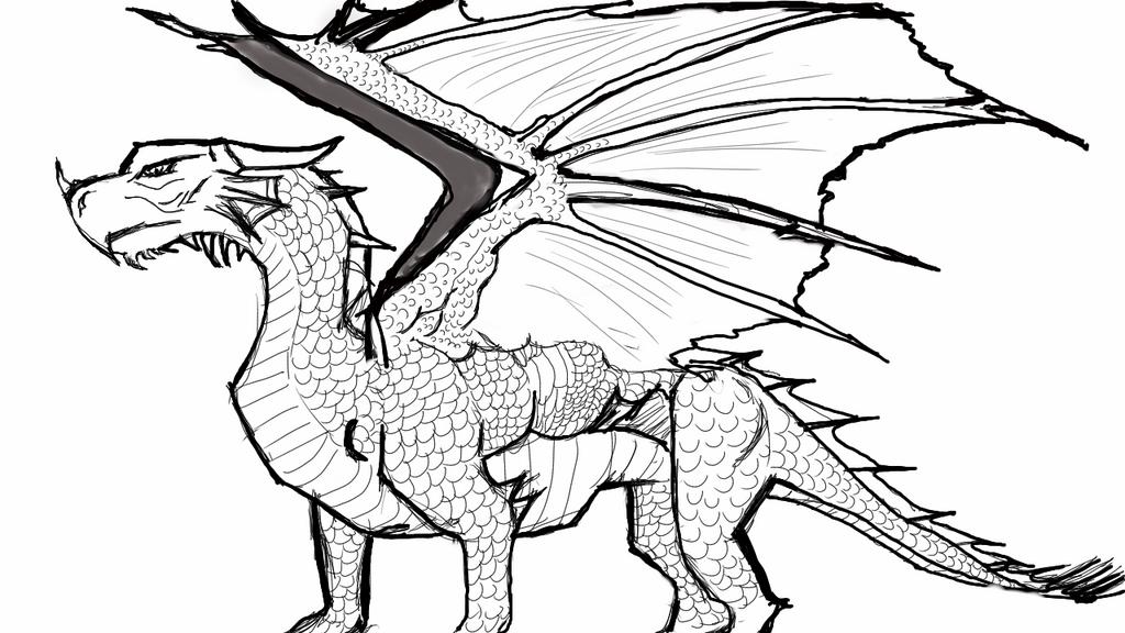 dragon outline by avinash c - Dragon Outline
