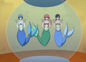 Commission - Mermaids Eva Girls by dlobo777
