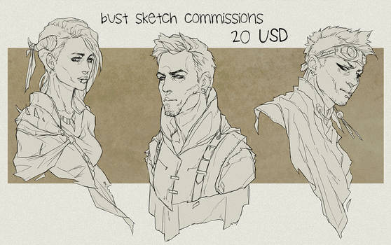Bust sketch commissions