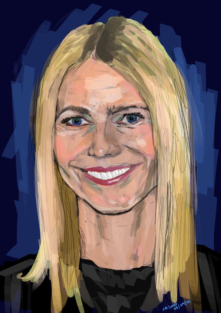 Gwyneth Paltrow Portrait by NickByDeath