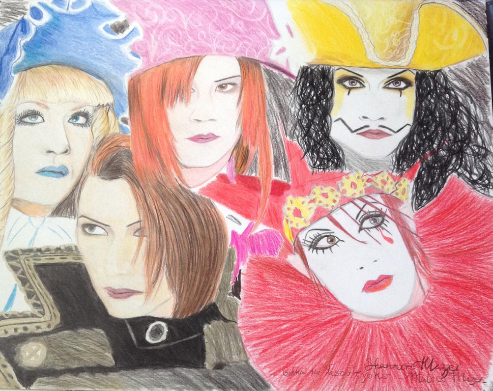 Malice Mizer Gekka no Yasoukyoku Drawing by brynhildr13