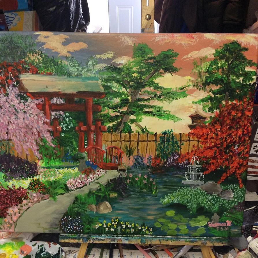 Japanese Garden by brynhildr13