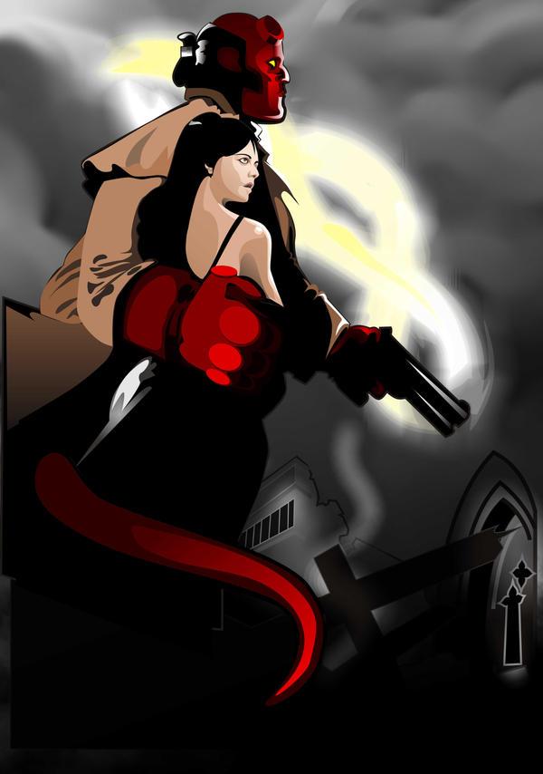 Hellboy And Liz Kiss