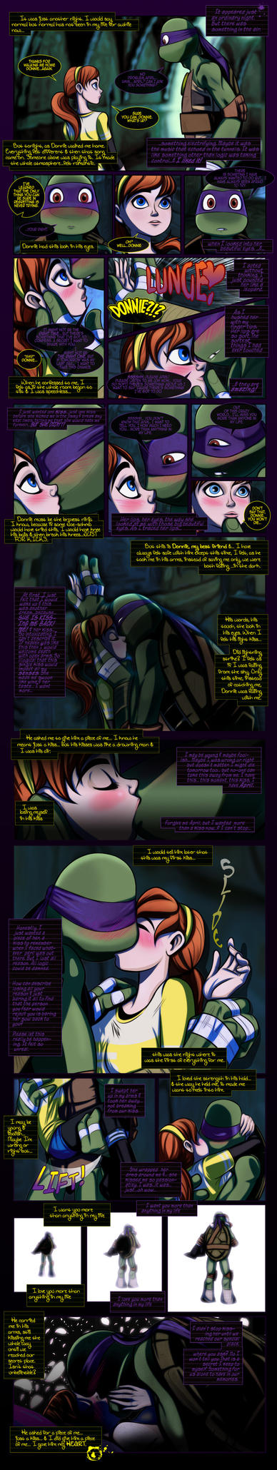 Donatello+April Fan-Comic Parachute by JasmineAlexandra