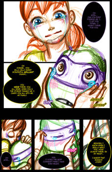 Donatello+April 'There for You WIP by JasmineAlexandra