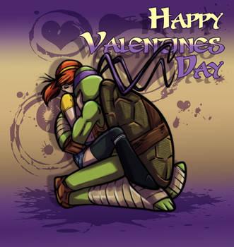 Happy Valentines Day Donnie+April by JasmineAlexandra