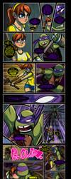 Donatello+April 'NinjaVanish (Censored) by JasmineAlexandra