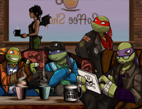 The RP Gang of TMNT2012 in Chatwing Cafe