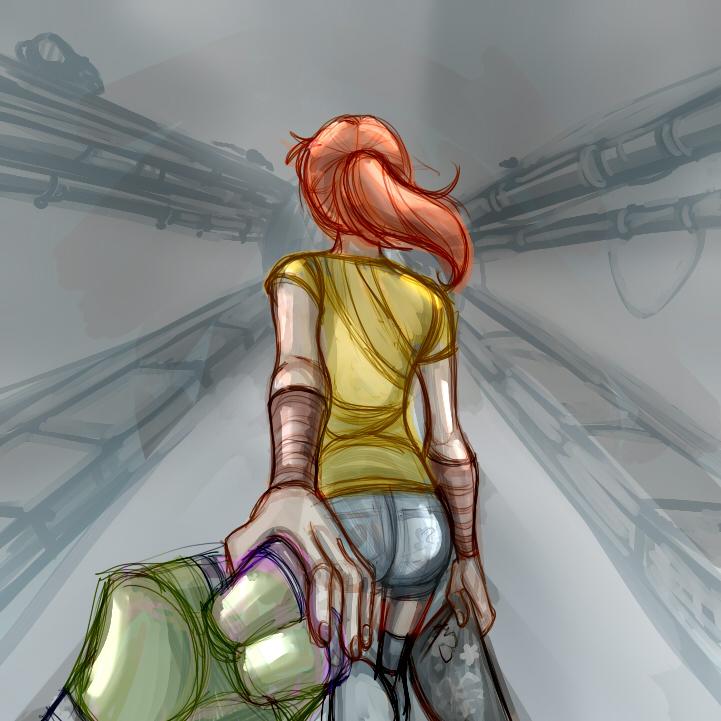 Donatello+April 'Holding her Hand by JasmineAlexandra
