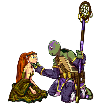 Apriltello Kappa Shinobi meets a Pict Elf by JasmineAlexandra