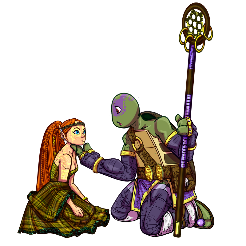Apriltello Kappa Shinobi meets a Pict Elf