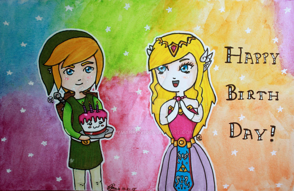 legend of zelda birthday card by ladymarkov on deviantart, Birthday card