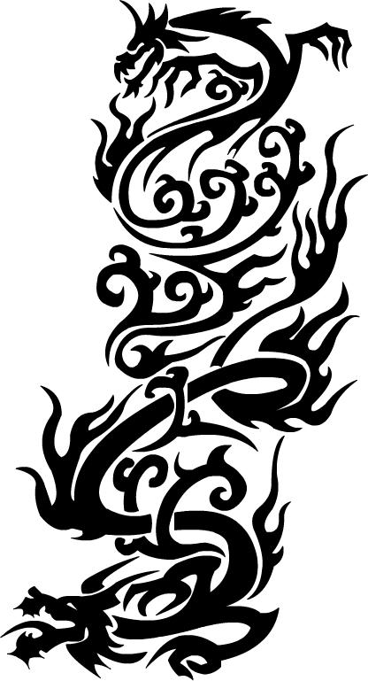 Dragon Tribal Design by abbott567