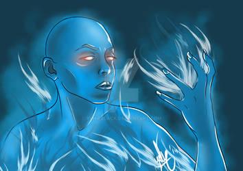 Frozen fire spirit